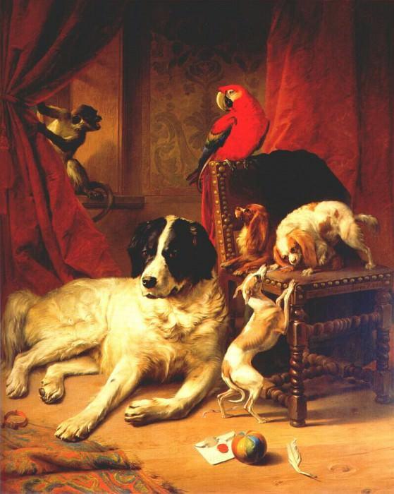 verboeckhoven the favorite animals of king leopold i 1845. Эжен Жозеф Вербукховен