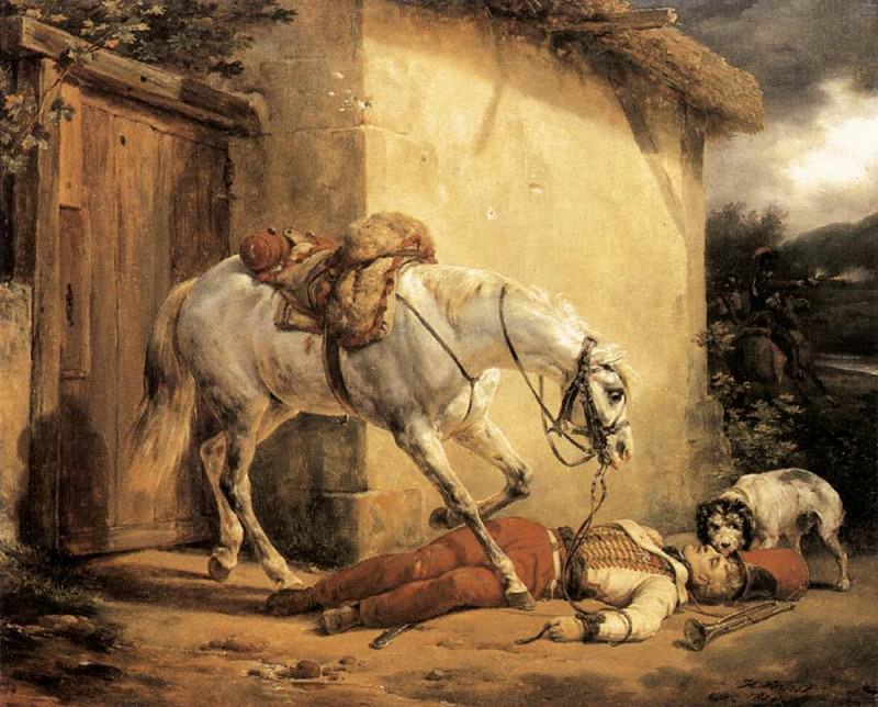 The Wounded Trumpeter. Horace Vernet