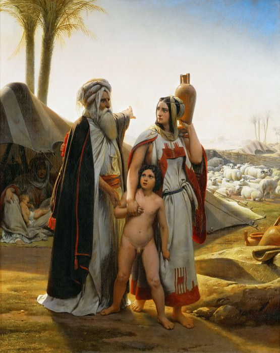 Abraham Turning Away Hagar. Horace Vernet