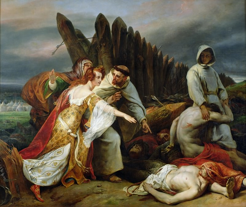 Edith Finding the Body of Harold. Horace Vernet