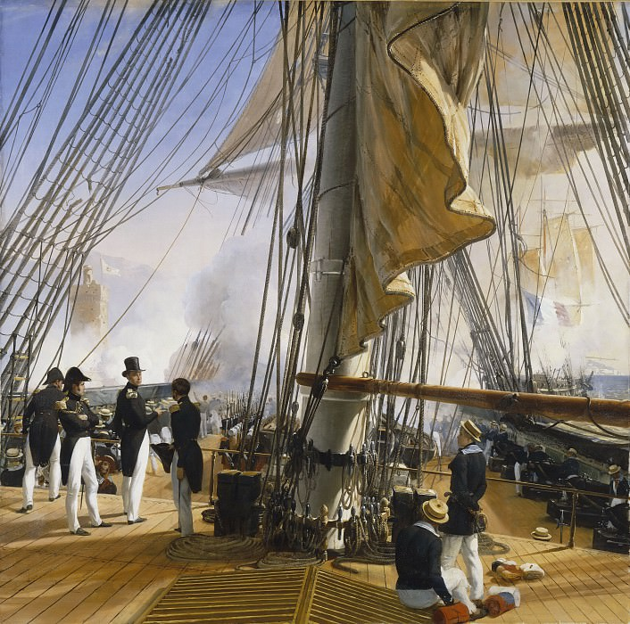 The French fleet entrance in the Tagus, July 11, 1831. Horace Vernet