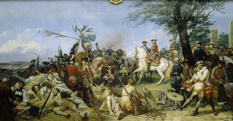 Battle of Fontenoy, 11 May 1745. Horace Vernet