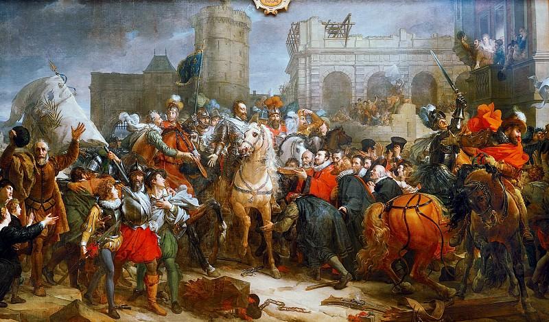 Henry IV Entering Paris, 22th March 1594. Horace Vernet
