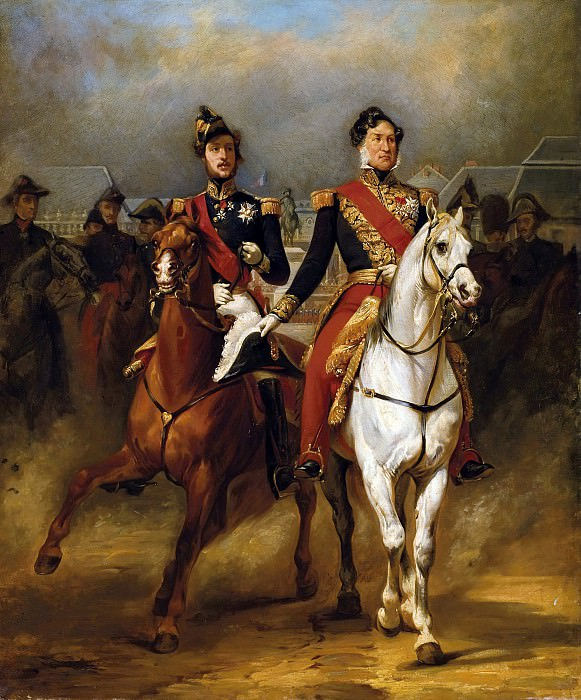 Louis-Philippe and the Duke of Orleans in Versailles. Horace Vernet