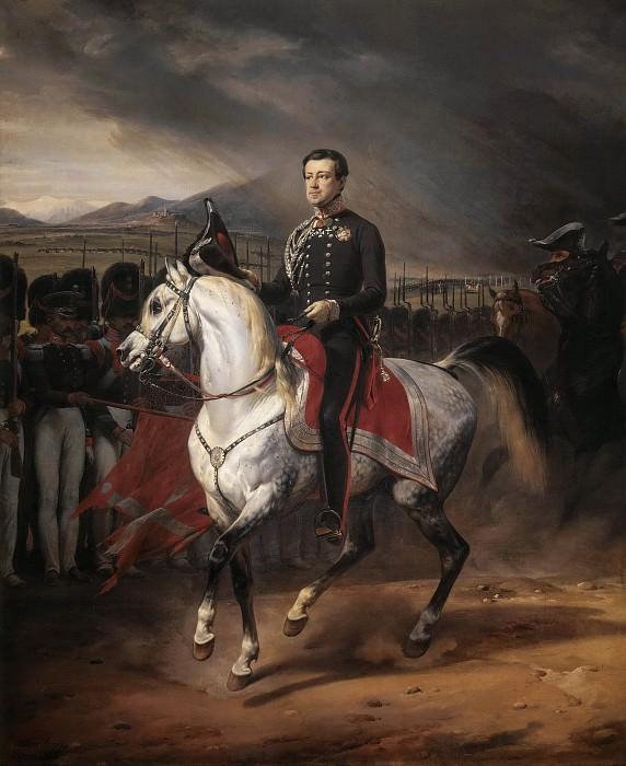 Charles Albert, King of Sardinia. Horace Vernet
