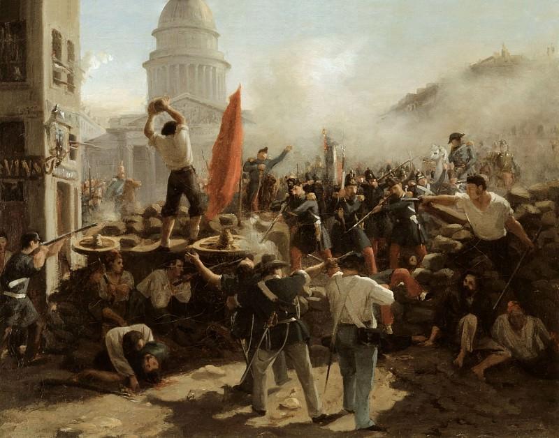 On the barricades on the Rue Soufflot, Paris, 25 June 1848. Horace Vernet