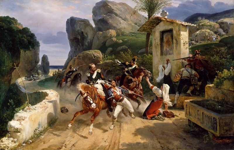 Italian Brigands Surprised by Papal Troops. Horace Vernet