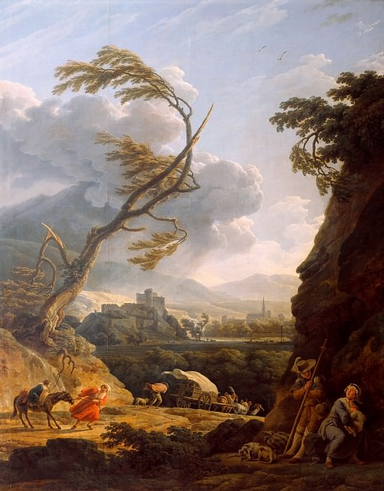 Noon on earth gale. Horace Vernet