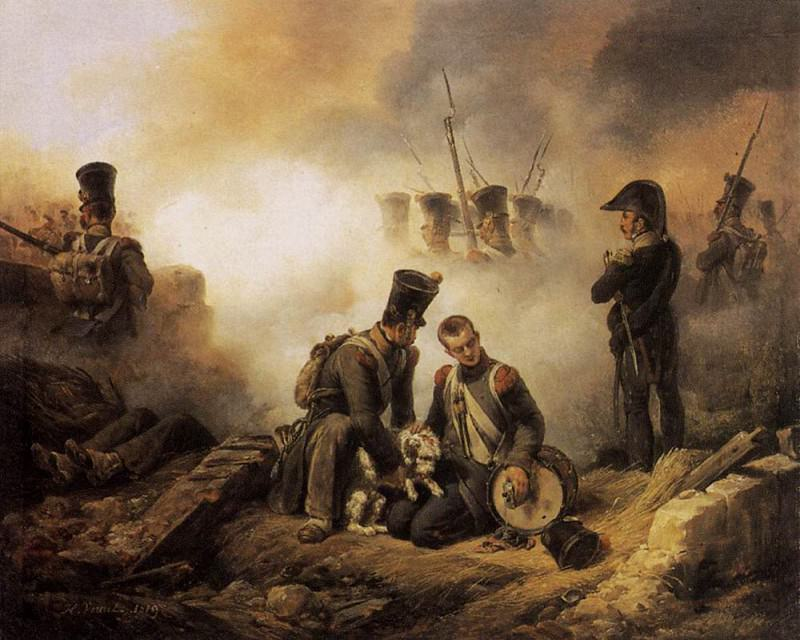 The Dog of the Regiment Wounded. Horace Vernet