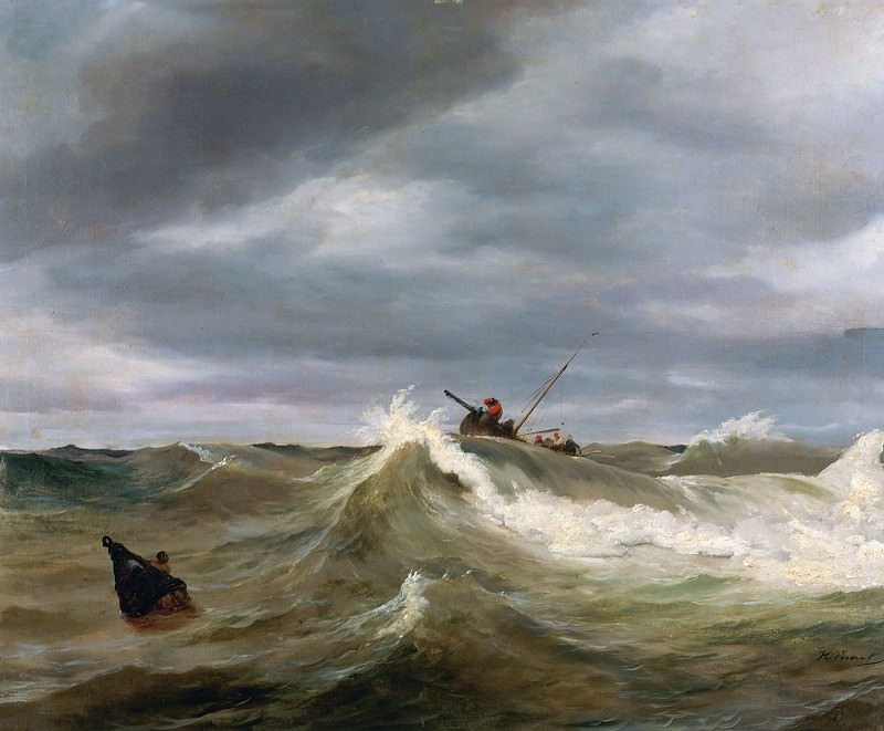 The Wave. Horace Vernet