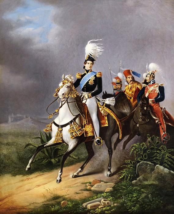 Equestrian portrait of Napoleon II. Horace Vernet