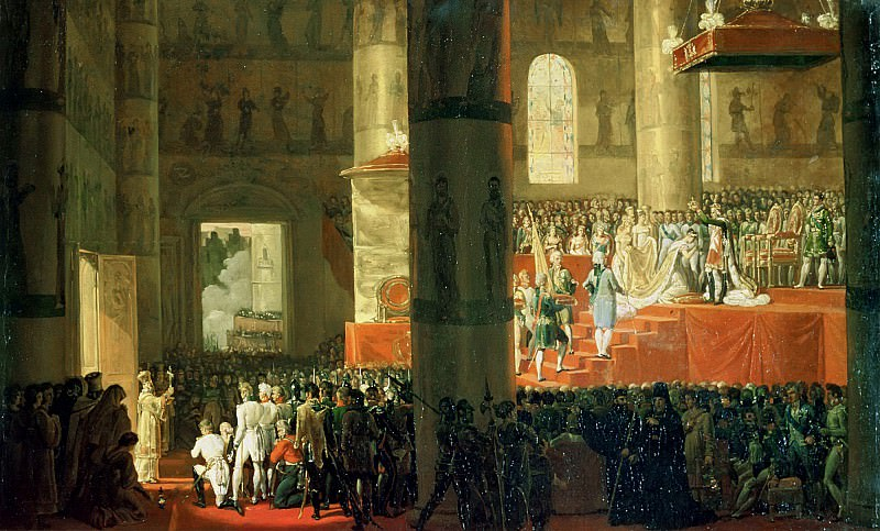 The Coronation of the Empress Maria Fyodorovna (1759-1828). Horace Vernet