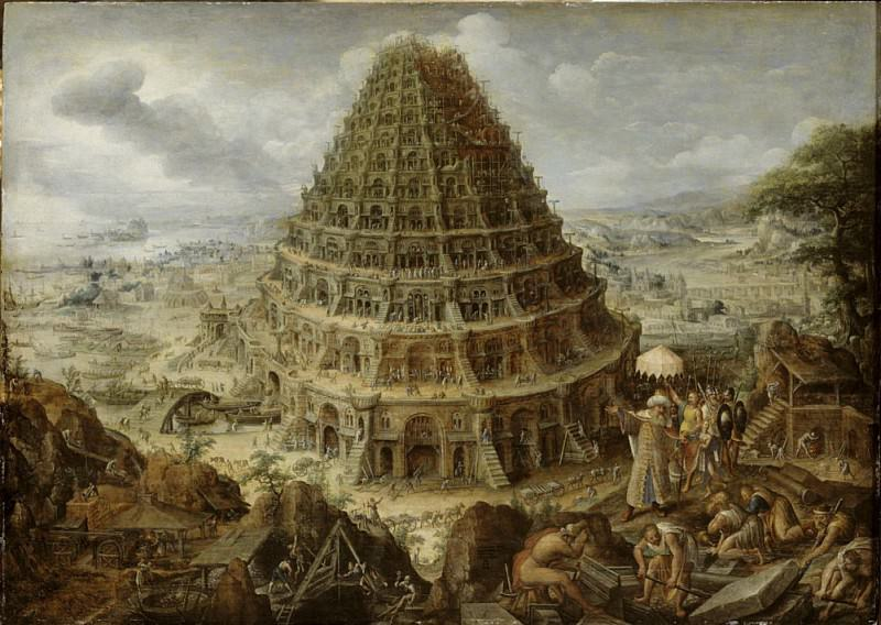 The Building of the Tower of Babel. Marten van Valckenborch