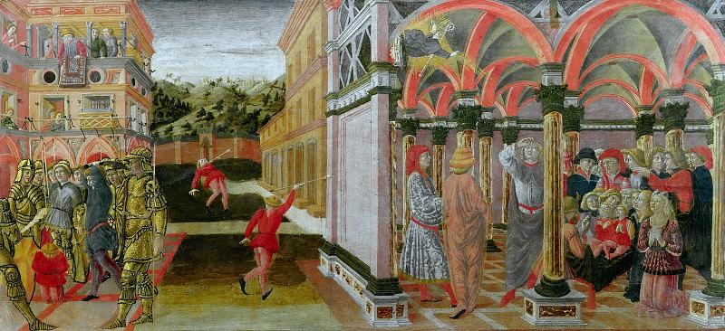 A Miracle of Saint Louis of Toulouse. Vecchietta (Lorenzo di Pietro)