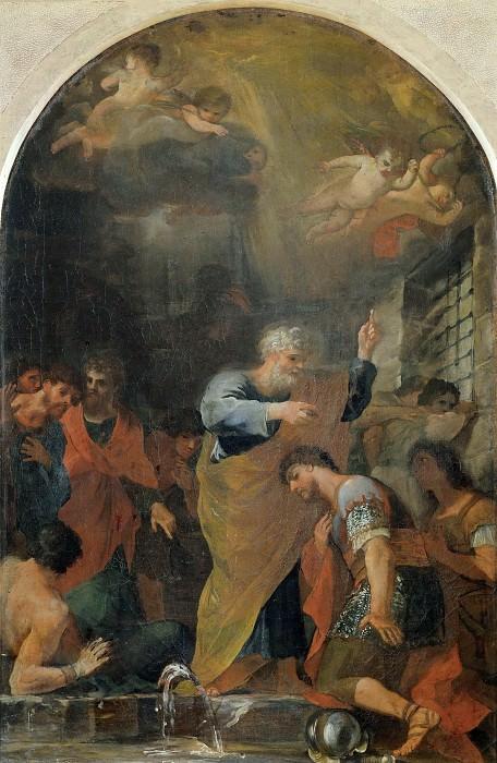 Святой Петр крестит святых Процессия и Мартиниана. Андреа Камассеи