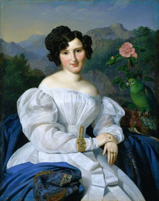 Crescentia, Countess Zichy 1828. Ferdinand Georg Waldmüller