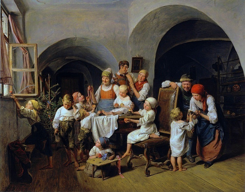 Christmas morning 1844. Ferdinand Georg Waldmüller