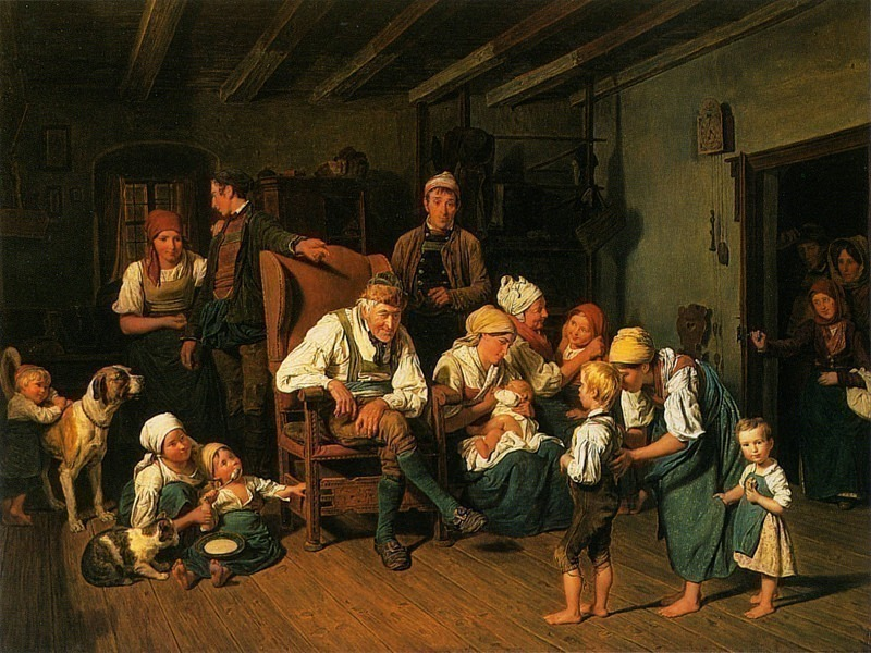 Grandfathers Birthday 1849. Фердинанд Георг Вальдмюллер