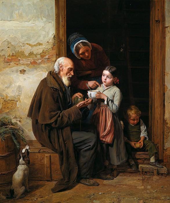 Фердинанд Вальдмюллер - Благотворительность. Ferdinand Georg Waldmüller (The Charitable)
