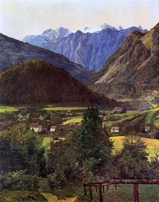 Der Dachstein vom Sophienplatze aus 1835. Ferdinand Georg Waldmüller