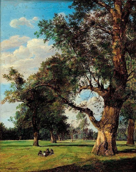 Alte Bäume im Prater - Старые деревья в Пратере. Ferdinand Georg Waldmüller