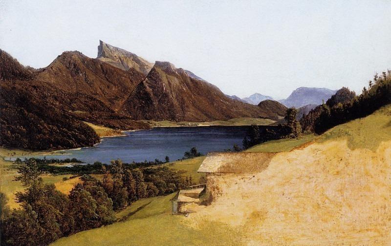 Fuschelsee mit dem Schafberg, Озеро Fuschel с Шафберг. (1835). Ferdinand Georg Waldmüller