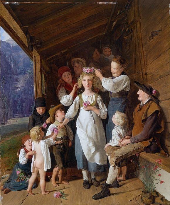 Die Kranzljungfer. Ferdinand Georg Waldmüller