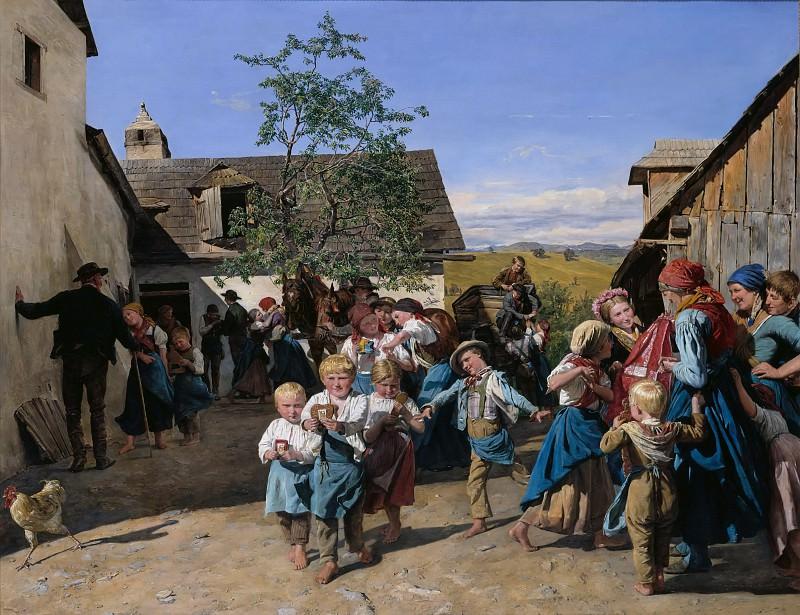 Return from the Fair. Ferdinand Georg Waldmüller