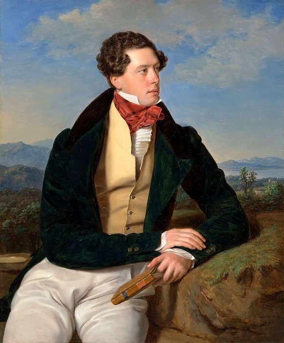 Актер Максимилиан Korn. (1828). Ferdinand Georg Waldmüller