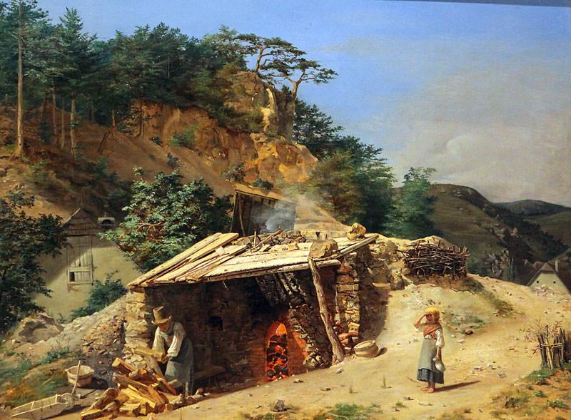 Печь для обжига извести в Хинтербрюле. Фердинанд Георг Вальдмюллер