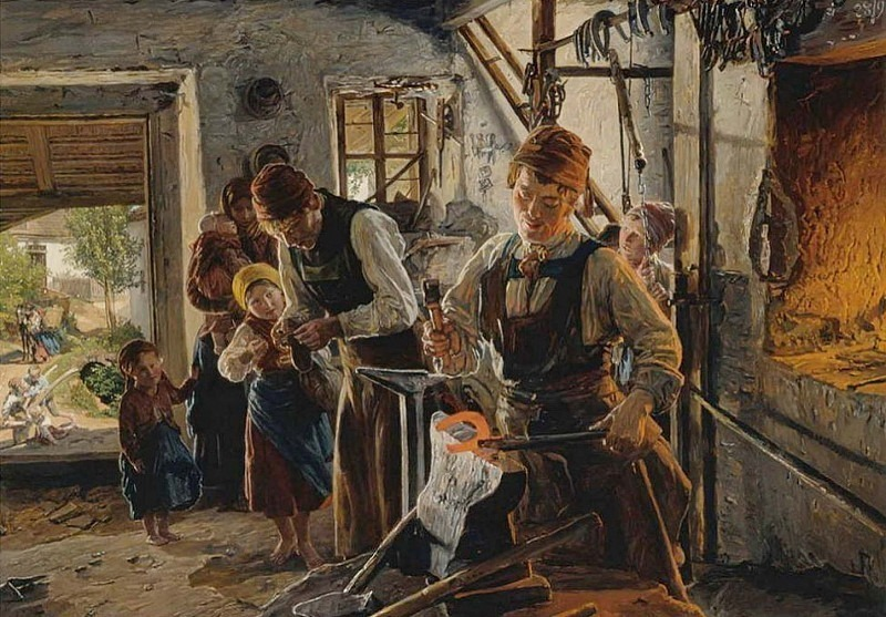 Schmiedewerkstatt. Ferdinand Georg Waldmüller