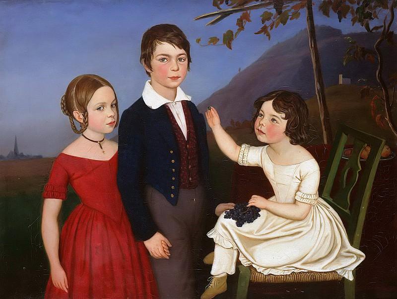 Paul, Maria and Filomena von Putzer. Ferdinand Georg Waldmüller