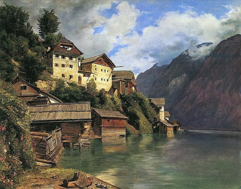 Parthie von Hallstatt 1839. Ferdinand Georg Waldmüller