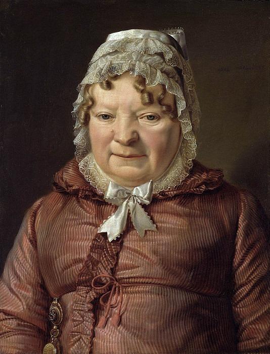 Mother of the captain von Stierle-Holzmeister. Ferdinand Georg Waldmüller