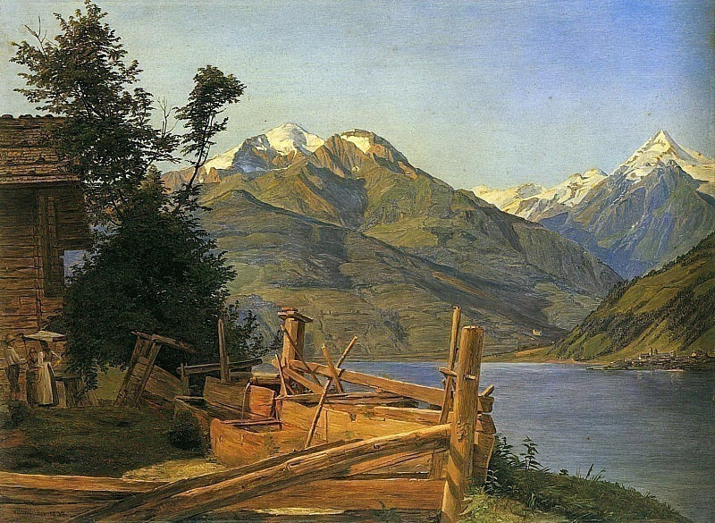 Zell am See in Pinzgau 1837. Фердинанд Георг Вальдмюллер