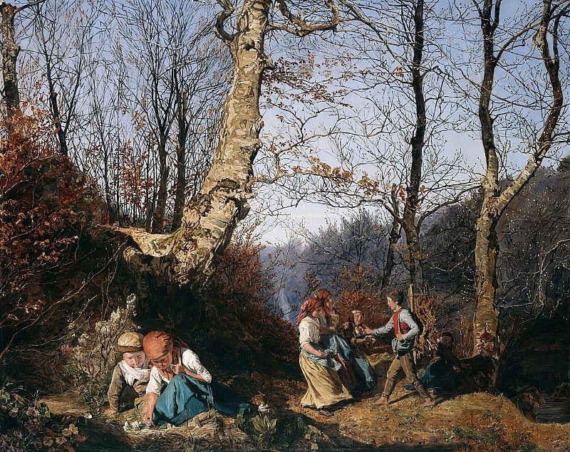 Early Spring in the Vienna Woods. Ferdinand Georg Waldmüller
