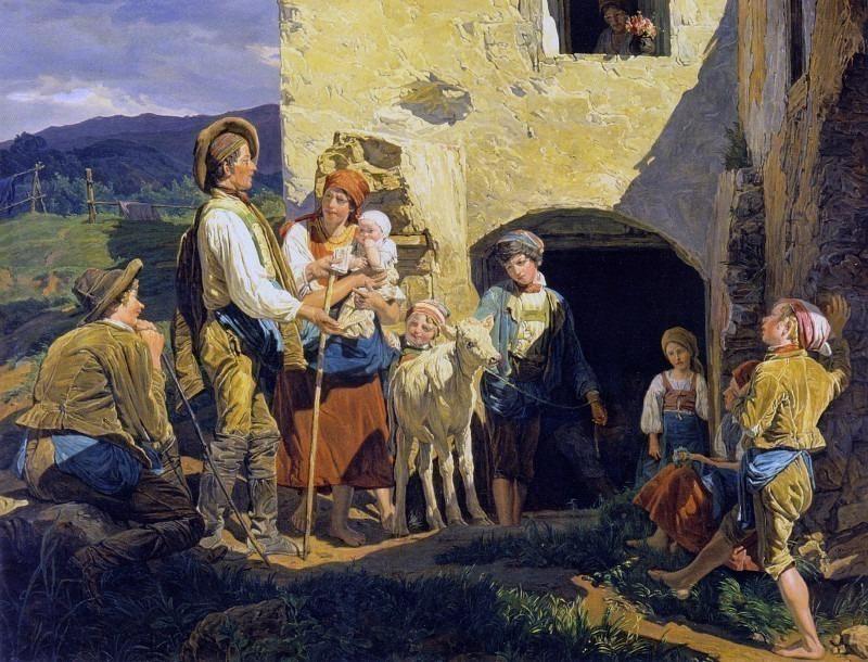 Распродажа для бедняков. Фердинанд Георг Вальдмюллер