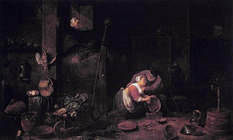 Der Alte Und Die Kuchenmagd After david Teniers D J. Ferdinand Georg Waldmüller