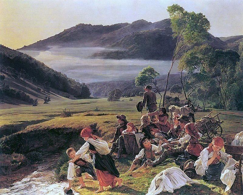 Отдыхающий паломник. Фердинанд Георг Вальдмюллер