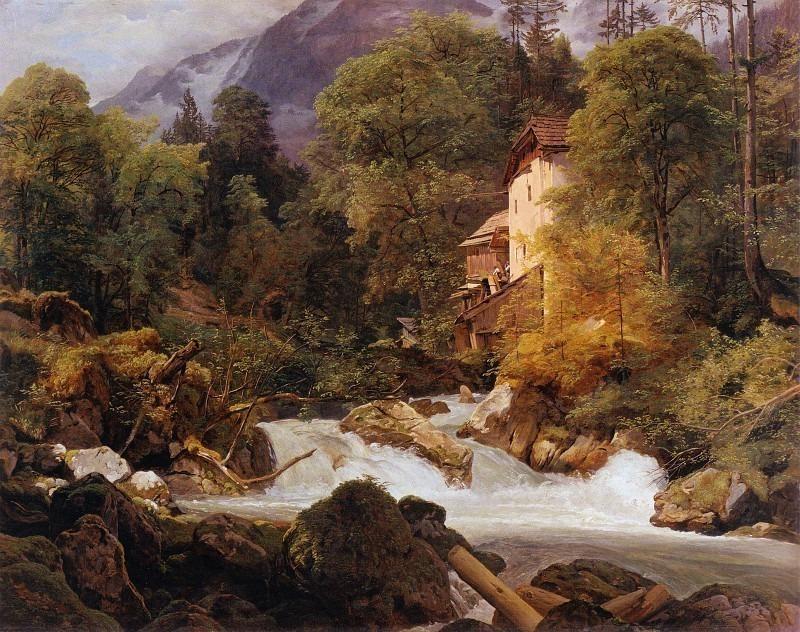 Мельница на выезде из Кенигзее. Фердинанд Георг Вальдмюллер