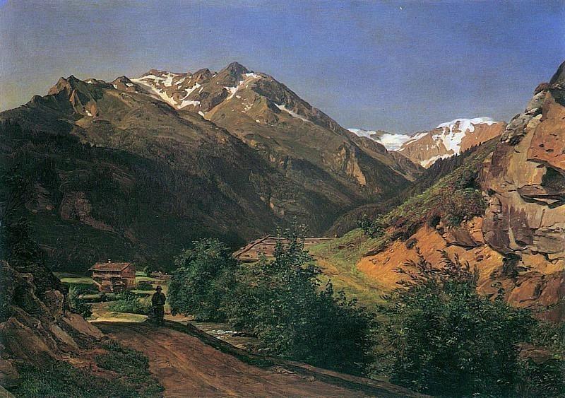 Der Rathausberg bei Wildbad Gastein 1837. Ferdinand Georg Waldmüller