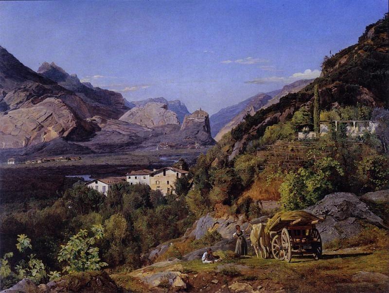 Горы Arco на Riva, Gebirge von Arco bei Riva 1841. Ferdinand Georg Waldmüller