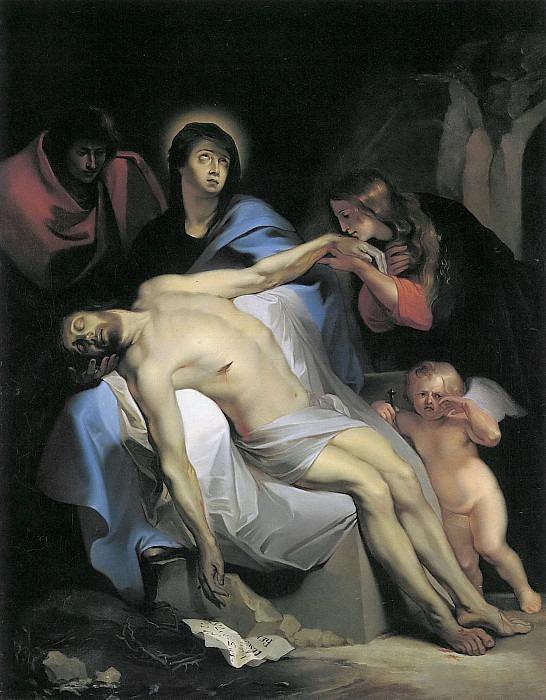Оплакивание Христа, копия ван Дейка. Фердинанд Георг Вальдмюллер