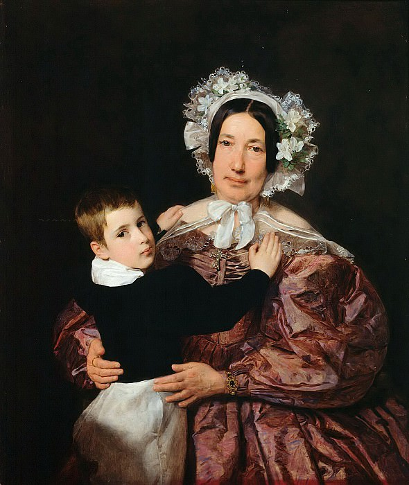 Mrs. Lindner with her Son. Ferdinand Georg Waldmüller