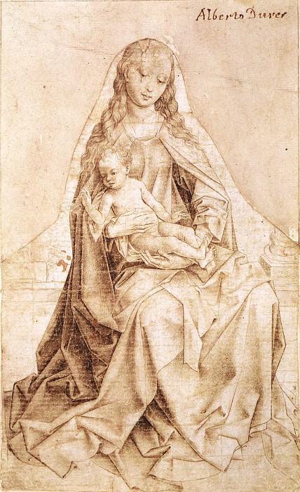 Weyden Virgin with the Blessing Child. Rogier Van Der Weyden