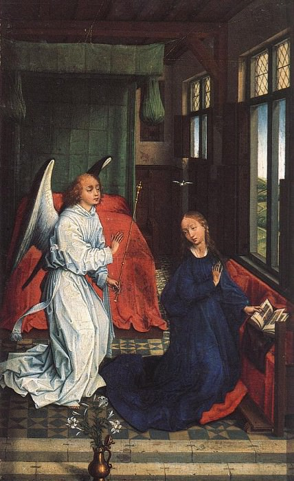 Annunciation WGA. Rogier Van Der Weyden