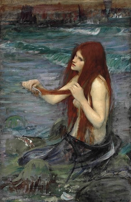 "Sketch for ""A Mermaid"". John William Waterhouse"
