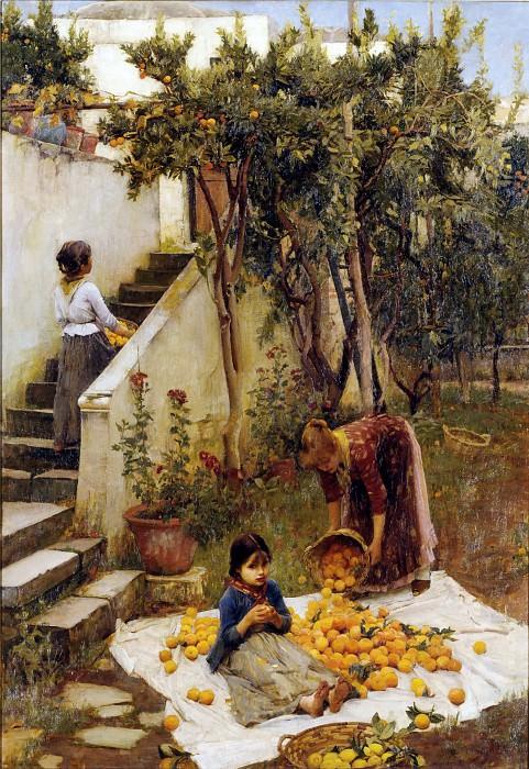 The Orange Gatherers. John William Waterhouse