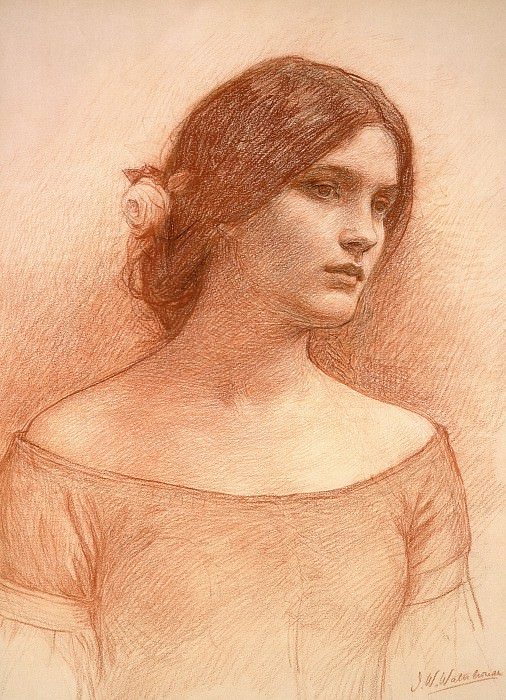 Study for the Lady Clare. John William Waterhouse