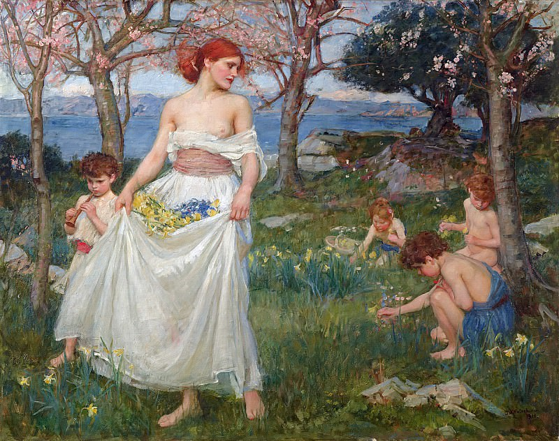 A song of springtime. John William Waterhouse
